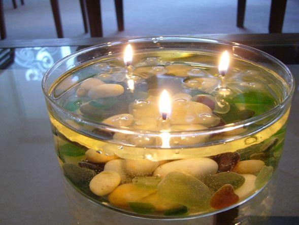 astuce d co fabriquer des bougies flottantes ternelles trucs et astuces faire la maison. Black Bedroom Furniture Sets. Home Design Ideas