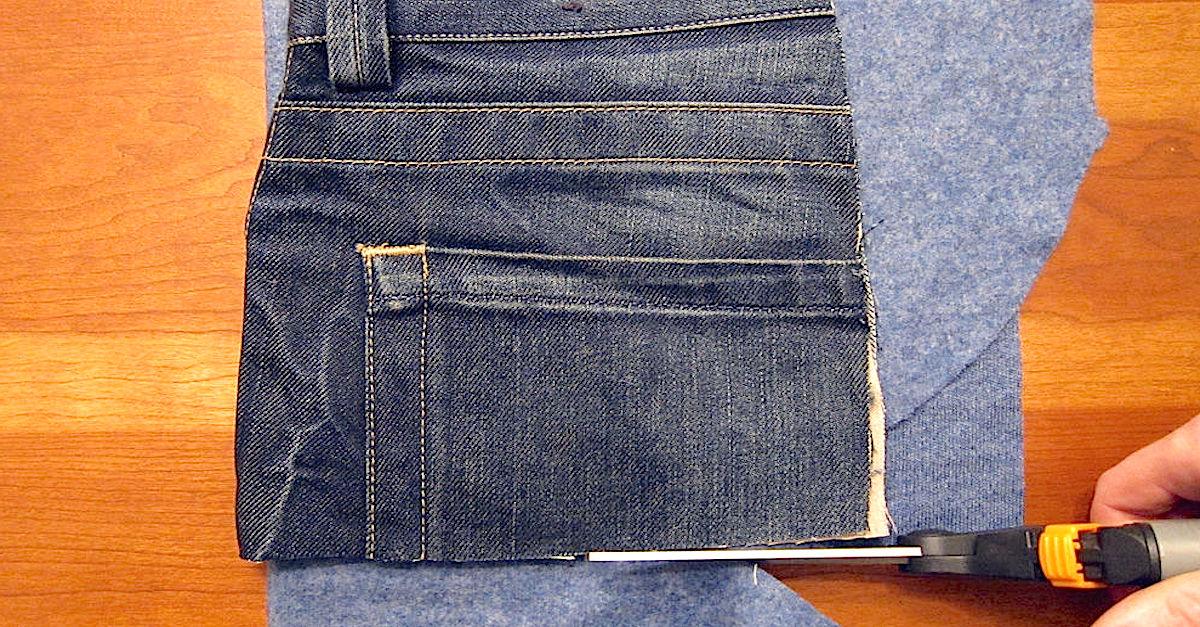 voici 11 id es cr atives pour recycler vos vieux jeans trucs et astuces faire la maison. Black Bedroom Furniture Sets. Home Design Ideas