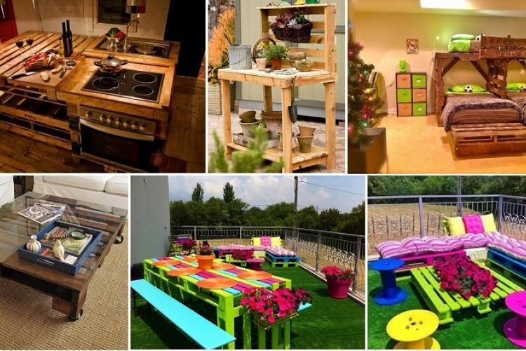 voici 17 id es que vous pouvez r aliser avec des palettes de bois trucs et astuces faire. Black Bedroom Furniture Sets. Home Design Ideas