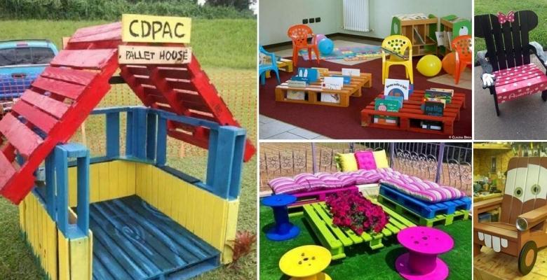 Des id es admirables de meubles pour enfants bricoler avec des palettes de - Bricolage palette bois ...